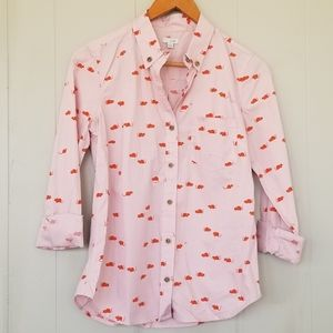 Odille anthropologie 4 mouse and cheese button up